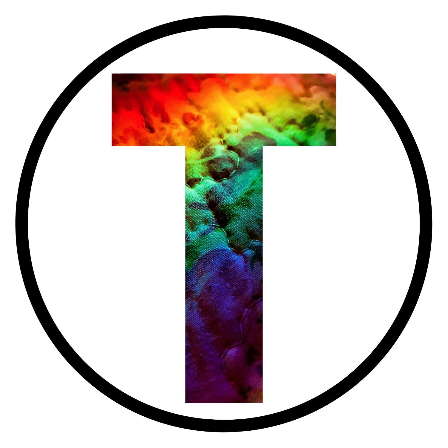 T (rainbow initial icon)